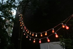 Each week the light string is re-installed in a new formation.